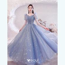 Uroczy Błękitne Sukienki Na...