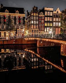 Amsterdam  #holandia #nocne...