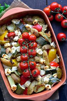 Warzywa zapiekane z fetą