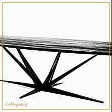 Stół na czterech zbieżystyc...