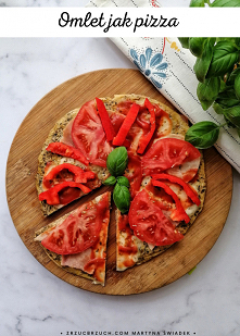 Pyszny omlet a`la pizza :) ...
