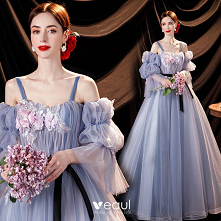 Elegancka Błękitne Sukienki...
