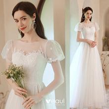 Eleganckie Białe Sukienki N...
