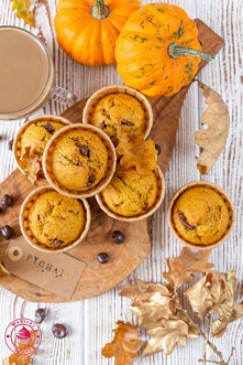 Muffinki dyniowe z czekoladą - Wypieki Beaty