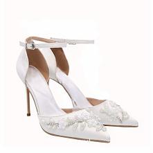 Eleganckie Białe Sandały Da...