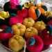 Welurowe jabłka i dynie #jesień #ozdoby #handmade #