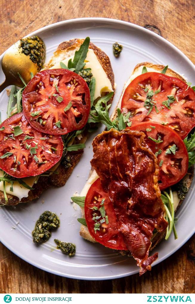 Crispy Prosciutto, Sage Pesto, & Tomato Grilled Cheese | Half Baked Harvest