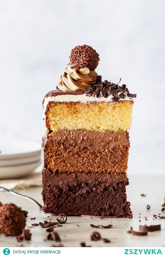 Epic triple chocolate cake