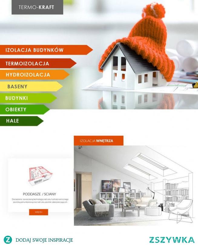Termo-Kraft - projekt wykonanie strony informacyjnej dla firmy zajmującej się termoizolacją budynków