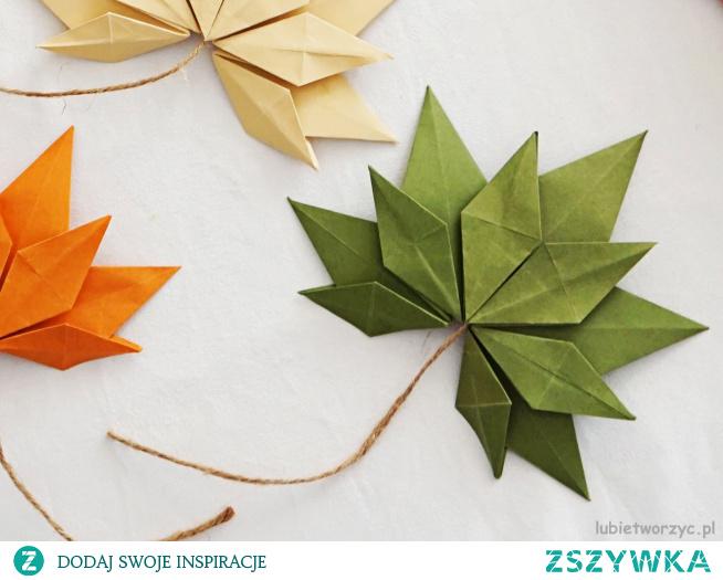 Tutorial ukazujący sposób wykonania liścia klonu metodą origami :)