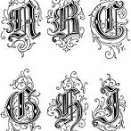 Okładka Decoupage, transfery - alfabet