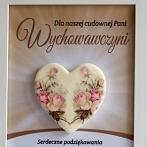 Okładka Dzień Nauczyciela - ramki z porcelanowym sercem