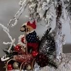 Okładka Białe choinki dekoracje świąteczne bożonarodzeniow
