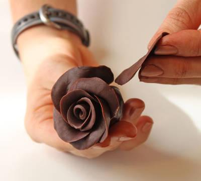 Jak zrobić różę z czekolady