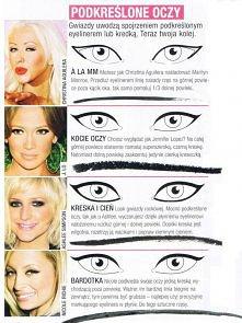 podkreślone oczy