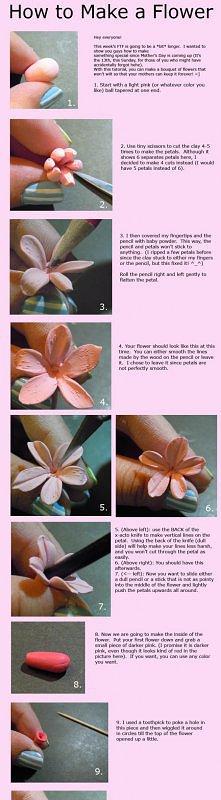 Jak zrobić różowego kwiatka