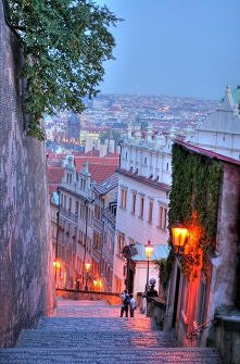 Steep Stairs, Prague, Czech Republic