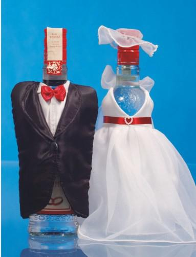 dekoracja butelki na ślub