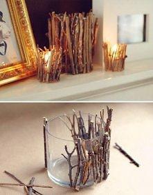 świecznik z patyczków