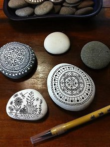 pomysł na kamienie z nad morza