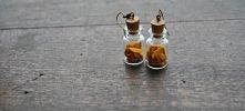 kolczyki szklane handmade ;...