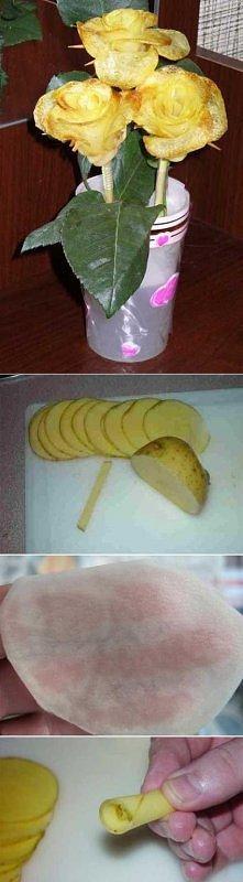 róże z ziemniaków pychaaa