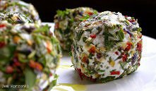 Ziołowe kuleczki z białego sera