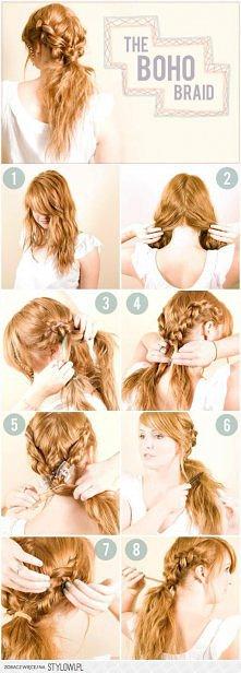 Jak zrobić ciekawą fryzurę ...
