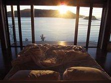 łóżko z takim widokiem, marzenie