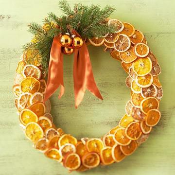 pomarańczowy wieniec