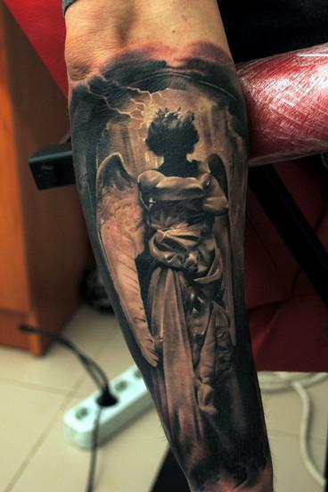 Anioł Ciemności Na Tattoo Zszywkapl