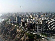 Lima z lotu ptaka, Peru
