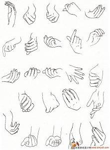 Rysunki dłoni.