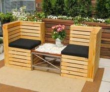 krzesla do ogrodu z palet
