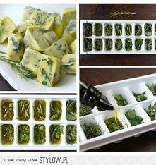 zioła zamrożone w oliwie
