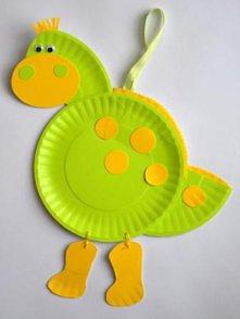 Dinozaur z talerzyków papie...