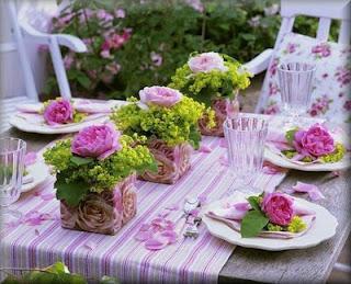 stół z różami