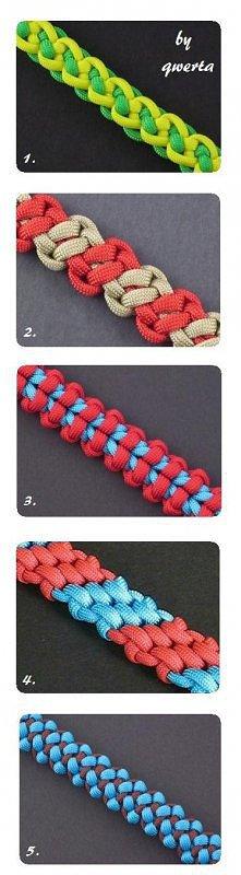sposoby na zrobienie fajnych bransoletek ;)