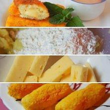 Paluszki ziemniaczane z serem  składniki:  5 średnich gotowanych ziemniaków 2...