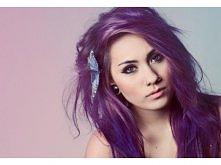 fioletowe włosy <3