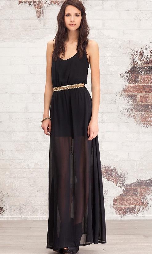 Moja kochana sukienka ze Stradivariusa, zakładam ją też jako maxi spódnicę do botków na słupku i szerokich, krótkich t-shirtów<3