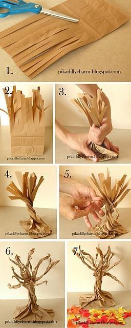 Papierowe drzewko