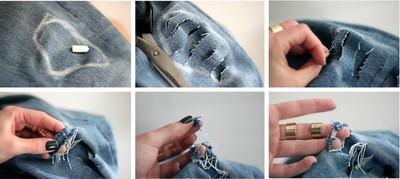 DIY przecieranie spodni