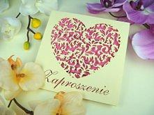 zaproszenie ślubne z kolekcji Serce