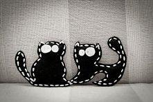 koty - naszywki na ubranka