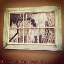 ramka na zdjęcie ze starego okienka