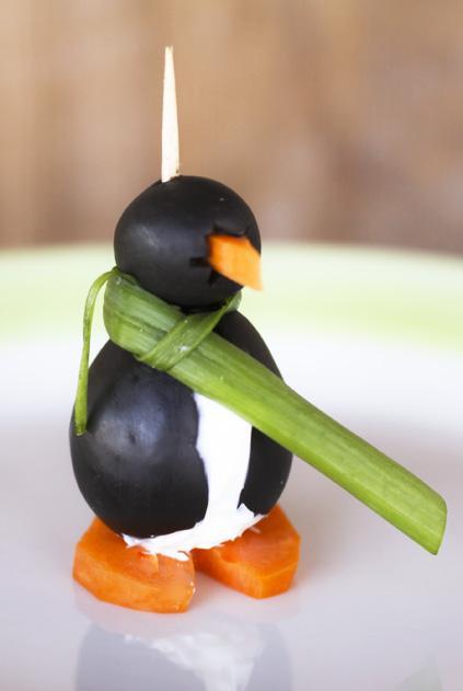 Pingwinki z oliwek
