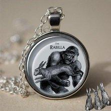 Rabilla = rabbit gorilla - ilustrowany wisiorek w stylu vintage (proj. Rabilla)