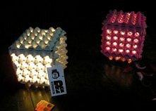 Lampa z kartonu po jajkach