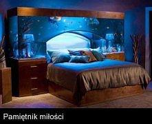 Łóżko z akwarium